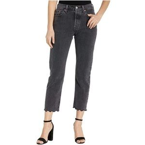 Levi's 501 Cropped High Waist Straight Jeans NWT
